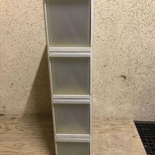プラスチック製 4段 収納ケース 隙間収納 キッチン ランドリー...