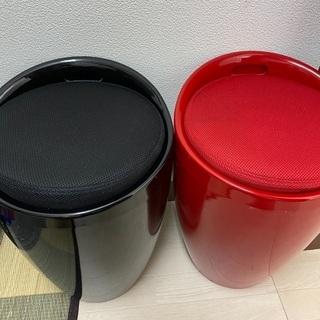 【ネット決済】まるイス 黒 赤