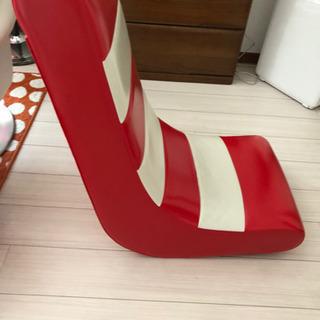 かわいい 革張り 座椅子