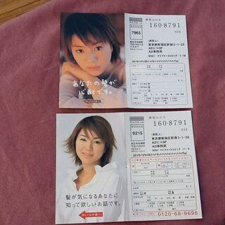 【コレクション】井川遥 アデランスの宣伝ハガキ2枚セット 15年...