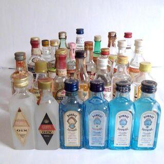 蒸留酒(ジン、ウォッカ、ラム等)の古酒ミニボトルまとめて2…