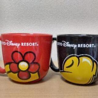 ミッキー&ミニーの大きめマグカップ