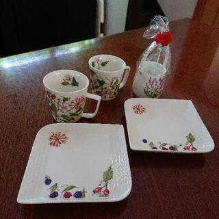 セルフカラーコーヒーカップ、お皿、シュガーポットセット