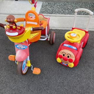 アンパンマン三輪車 手押し車セット