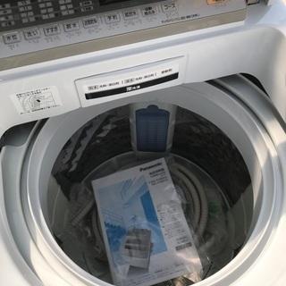 2017年製パナソニック全自動洗濯機容量8キロ美品。千葉県内配送無料。設置無料。 − 千葉県
