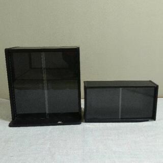 KONIKA木製ビデオ収納棚大・小2点セット