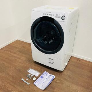 SHARP コンパクトドラム式洗濯乾燥機 ES-S7C-W…