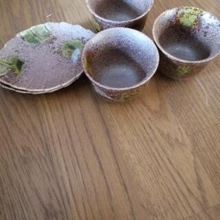 茶托付き湯呑3客セット