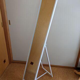 木製枠姿見ミラー