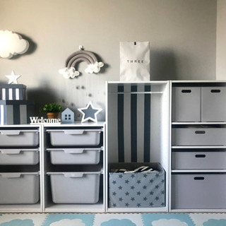 子供部屋の棚 セット