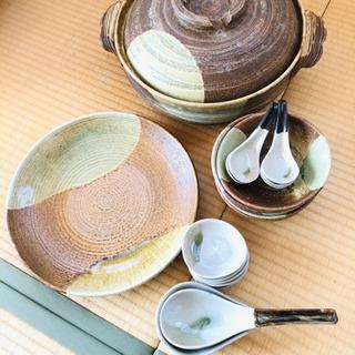 土鍋セット 大皿1中皿5小皿5レンゲ大小