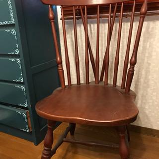 木製椅子 二脚 中古品