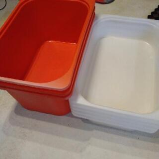 IKEA トロファストの収納ケース 赤3個 白5個セット