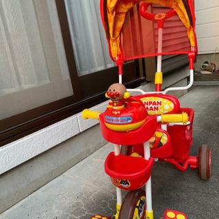 アンパンマン三輪車 サンシェード付き