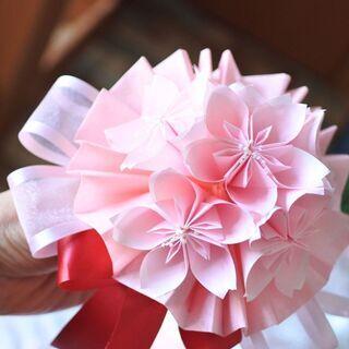季節のお花の折り紙ブーケ♥桜のブーケ