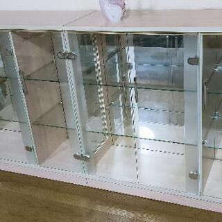 飾り棚 背面鏡 2台セット