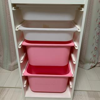【ネット決済】IKEA トロファスト ホワイトボックス×2  ピ...