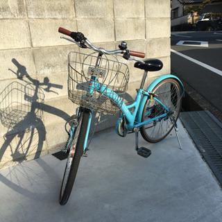 値引済 自転車 子供用22インチ Shimano 変速機付き