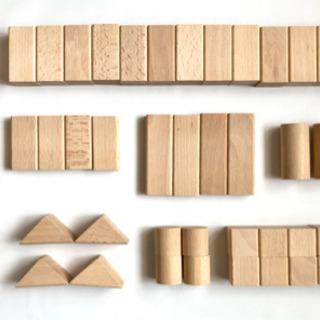くるま付きつみ木 48ピース 木製おもちゃ 積み木