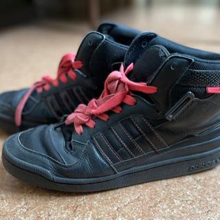 adidas ハイカットスニーカー black×pink