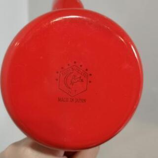 【値下げ】野田琺瑯(月兎印)1.2L 赤色 - 服/ファッション