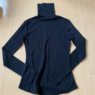 タートルネック 長袖Tシャツ 黒