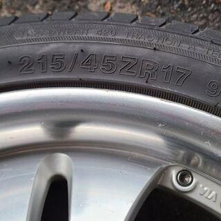 社外品 17インチ タイヤホイール 215/45/R17 INT...