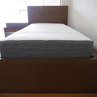 【ネット決済】シングルベッド+マットレスセット IKEA イケア...