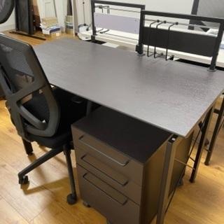 オフィステーブルセット黒 取引完了しました