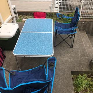【ネット決済】コールマンクーラーボックス、チェア、折り畳みテーブ...
