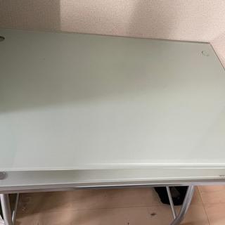 【急遽値下げ】【大至急】パソコン台 ガラス製 テーブル