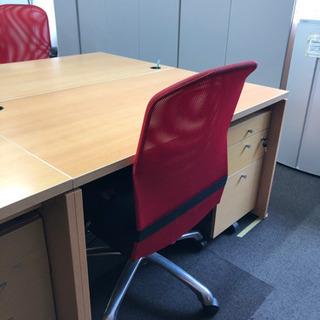 事務机と袖机と椅子3点セット デスク