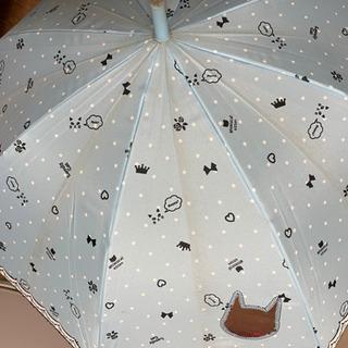 《予定者決定》学校グッズ④傘水色猫&置き傘 おまけ付き - 子供用品