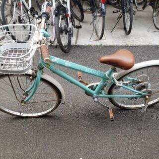 キッズ 自転車 24インチ エメラルドグリーン