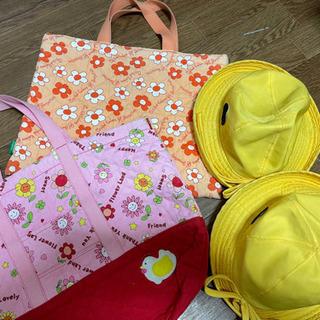 《予定者決定》学校グッズ⑦黄色い帽子&手提げ袋の画像