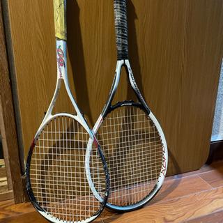 【ネット決済】ミズノ、ダンロップテニスラケット 二本セット