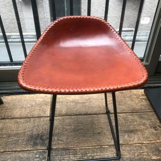 スツール 椅子 13脚 1脚で購入可 本革 アイアン ブラウン ...