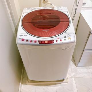 【中古】パナソニック NA-FS80H3 ピンク 全自動洗濯機