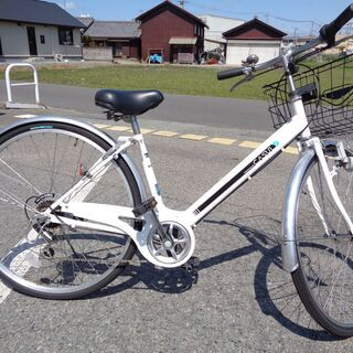 CASULY 婦人用自転車 27インチ 6速 白 (102)