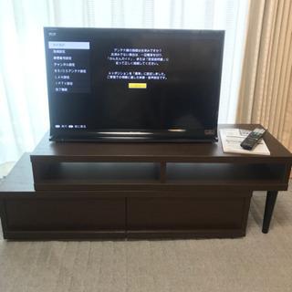 液晶TV AQUOS 32型 2013年製と伸縮TVボードのセット