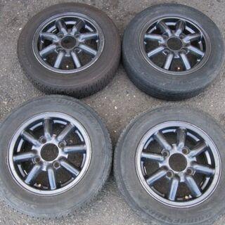 🚗旧車に!ブラックレーシング PCD114.3(12in)アルミ...