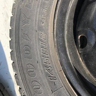 軽トラ鉄ホイール付きタイヤ。車検用にどうぞ。の画像