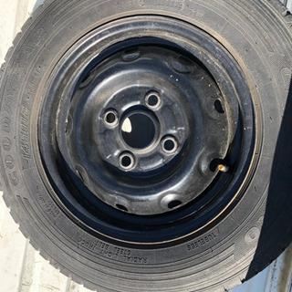 軽トラ鉄ホイール付きタイヤ。車検用にどうぞ。 − 愛知県