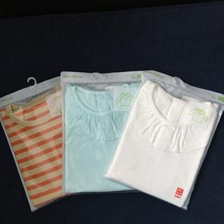 【新品】100 ユニクロ 長袖Tシャツ3枚セット☆