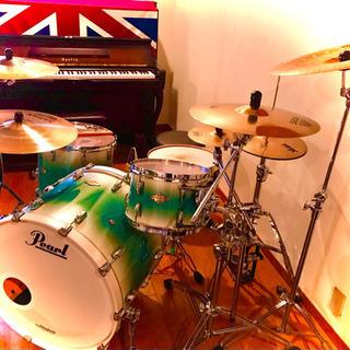 【Pearl ドラムフルセット】スタンド、ケース付き