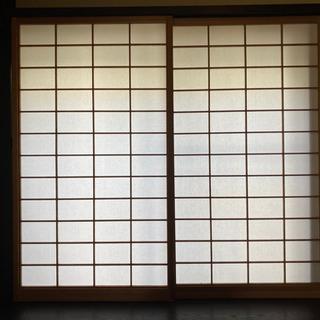 【古民家材】障子(赤杉)2枚セット