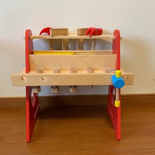 【お譲り決定】木のオモチャ 大工工具セット 室内 オモチャ…
