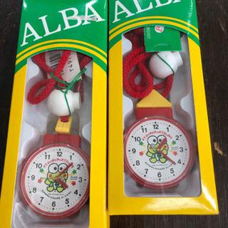 未使用品 けろけろけろっぴ 懐中時計 首掛け ALBA  …