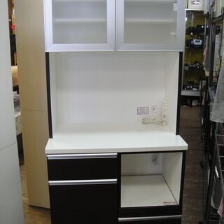 2ドアキッチンボード レンジボード 食器棚 キッチン収納 家電ボ...