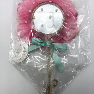 未使用■手鏡■ピンクの花■ブルーミング中西